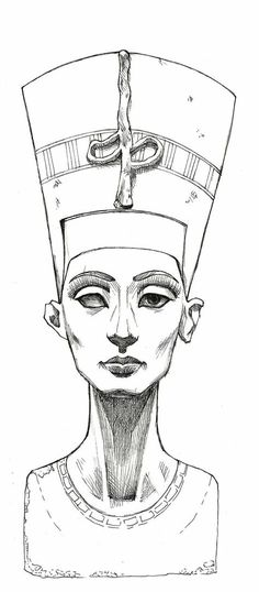 Cleopatra tattoo sketch Más