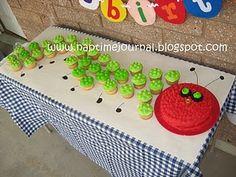 Hungry Caterpillar cupcake cake