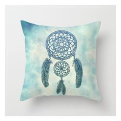 Double Dream Catcher Throw Pillow ($20) ❤ liked on Polyvore featuring home, home decor, throw pillows, black and white home decor, black and white accent pillows, pop art, black and white throw pillows and black and white pop art