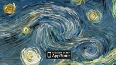 """Starry Night (interactive animation) by Petros Vrellis. A try to visualize the flow of the famous painting """"Starry Night"""" of Vincent Van Gogh."""