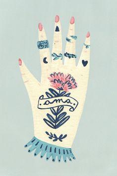 Mulheres, gatos, padrões florais. As adoráveis ilustrações de Josefina Schargorodsky - Follow the Colours