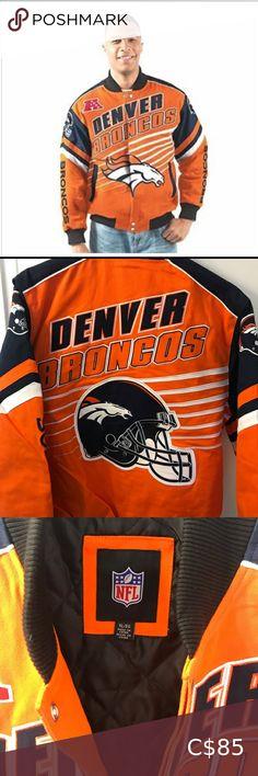 New Denver Broncos Twill Jacket size XL Denver Broncos twill Linebacker jacket is new with tags size XL NFL Jackets & Coats Bomber & Varsity Plus Fashion, Fashion Tips, Fashion Trends, Denver Broncos, Motorcycle Jacket, Nfl, Coats, Man Shop, Jackets