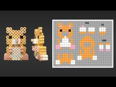 Cute 3D Hamster Perler Bead Pattern. Laceys Crafts is all about sharing super simple and adorable crafts for kids. Enjoy!