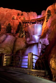 Firewall Falls in Ornament Valley at Disney California Adventure Park  tami@goseemickey.com