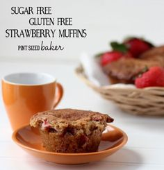 Gluten Free Strawberry Muffins #Paleo but does use Swerve as a sweentener