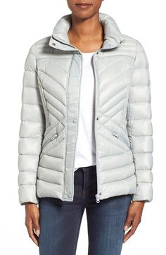 Halogen® Hooded Quilted Down Jacket