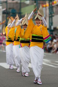 Awa-odori #japan #tokushima*-*.also known as Aho-odori( fool's dance)