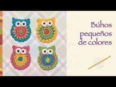 Paso a paso: búhos pequeños de colores tejidos a crochet (aplicación!)