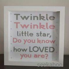 Twinkle twinkle little star  #seekaboo #handmade #gifts #baby #nursery #NurseryArt #art #twinkletwinkle #star #babygoods #giftsforall #babyshower #pink #grey #newbaby #crafty #artsy #supporthandmade...