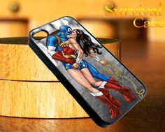 Captain America Kissing Wonder Women iPhone 4 4S iPhone 5 5S 5C and Samsung Galaxy S3 S4 Case