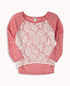 Lovely Lace Raglan Top
