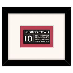 Buy East of India London Town Framed Print, 23 x 27cm Online at johnlewis.com