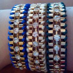 Pulseras Cordón, disponibles en Azul, Crema, Verde Marrón y Negro  www.missbrumma.com