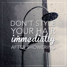 Your hair is most prone to breakage when it is wet – wait for it to air dry a little bit before brushing and styling!   #Secretextensions #tips #hair