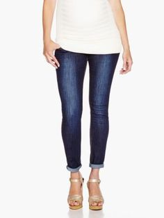 Maternity Jegging With Sandblast  by #ThymeMaternity :: #MaternityFashion #MaternityStyle #MaternityJeans