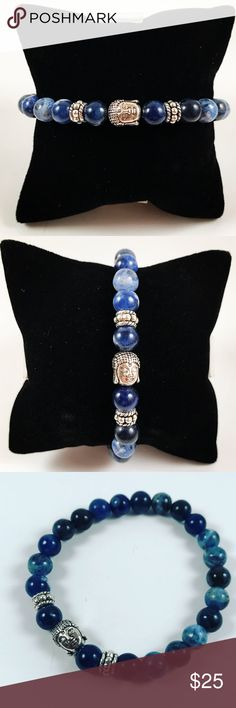 Men blue Sodalite beaded bracelet buddha charm Men beaded bracelet. Fits most , 7.5 to 8.5 inch wrist. Handmade by me , never worn by anyone. Made with blue Sodalite gemstones. Tibetan silver buddha charm. I ship fast!!✈️ Bundle and save! ( 10 % off bundles) REASONABLE offers considered. Any questions let me know! NO PAYPAL ! Accessories Jewelry