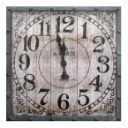 Yosemite Home Decor 31.5 in. x 31.5 in. Circular Iron Wall Clock in Dark Gray Frame-CLKB2A159 - The Home Depot