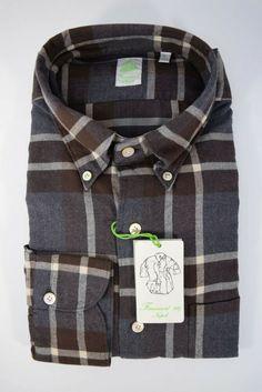 marrone MADE in Italy. Camicia Uomo Cotone Egiziano socks.striped DESIGN nero