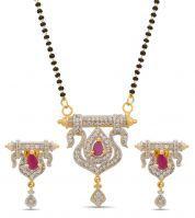 Lovely Designer American Diamond Mangalsutra Ms-1274
