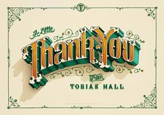 Typography / Thank You on Typography Served by Tobias Hall