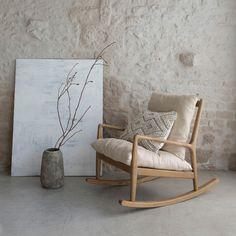 Cadeira de baloiço, tecido de linho, Dilma AM.PM.