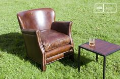 El sillón de cuero Turner es un sillón vintage que se puede integrar en una variedad de estilos de interior.