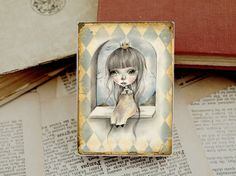 Miniature woodblock...from my original artwork by ppinkydollsart, $10.00