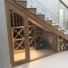 35 beliebte Weinkeller-Ideen unter der Treppe 35 popular wine cellar ideas under the stairs Basement Renovations, Home Renovation, Home Remodeling, Future House, My House, Story House, Boho Glam Home, Basement Stairs, Basement Ideas