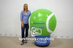 Inflatable Tennis Ball for Morley Tennis #tennis #inflatable #advertising