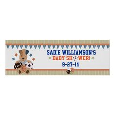 All-Star Puppies Baby Shower Banner Print