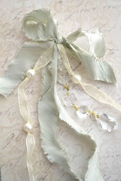 .Love shabby ribbons and trims!