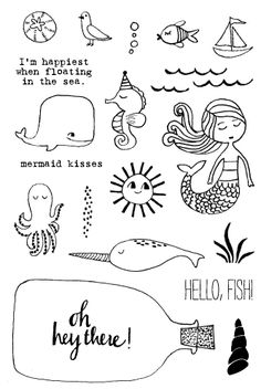 Doodle Ideas To try In Your Bullet Journal/ Decorate your Bujo with these doodles. From cute cactus doodles, to sea life, to cute little food. Dress up your Bullet Journal! Doodle Drawings, Easy Drawings, Art Postal, Animal Doodles, Mermaid Kisses, Mermaid Drawings, Simple Doodles, Happy Doodles, Bujo Doodles