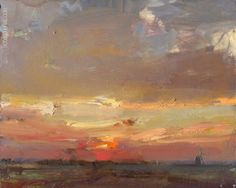 LANDSCAPE Sunrise in Autumn - Paintings by Roos Schuring Painter Pleinair