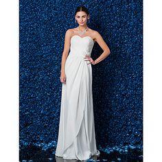Sheath/Column Sweetheart Floor-length Chiffon Wedding Dress – USD $ 129.99