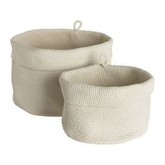 LIDAN Basket, set of 2 IKEA Handmade. Each basket is unique. Suitable for use in damp spaces.