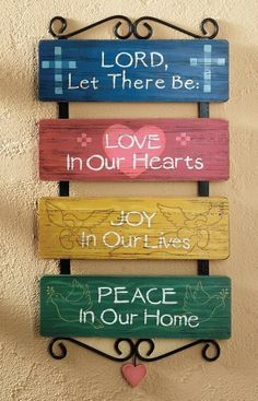 Religious Inspirational Sayings Wall Art from Collections Etc. Diy Wall Art, Diy Wall Decor, Art Decor, Art N Craft, Craft Stick Crafts, Indian Room Decor, Home Room Design, Inspirational Wall Art, Do It Yourself Home