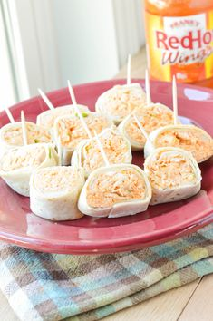 Buffalo Chicken Tortilla Roll-Ups {Macaroni and Cheesecake
