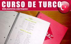 Caderno para aprender turco