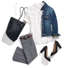 I have a denim jacket which would look great with white woven shirt.