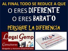 Persigue siempre la Diferencia. www.josemanuelarroyo.com