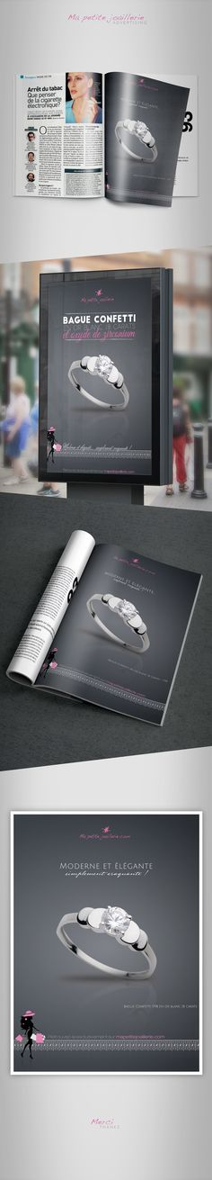 """ ads joaillerie ""  #ADS # ADVERTISING #VOICI #MAGASINE #PUB #PUBLICITE #JOAILLERIE"