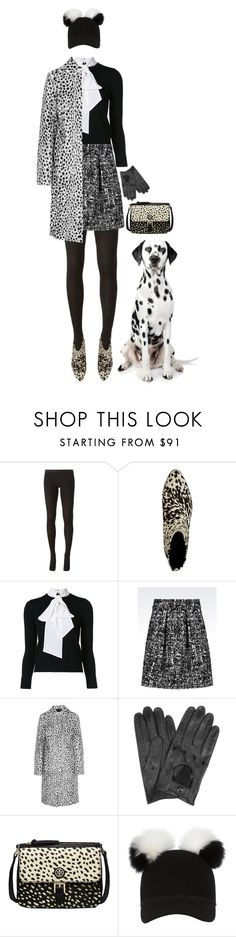 """""""Dalmatian"""" by rachael-aislynn ❤ liked on Polyvore featuring Rick Owens, Étoile Isabel Marant, Alice + Olivia, Emporio Armani, Givenchy, Forzieri, Tory Burch, Charlotte Simone, Fall and Boots"""