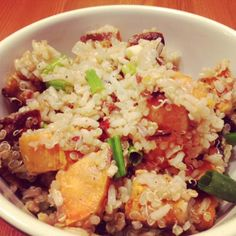 Rustic Pilaf: Wild rice, quinoa & sweet potatoes