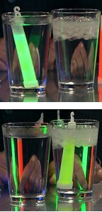 From Steve Spangler- see how different temperatures of water affect the brightness of glow sticks