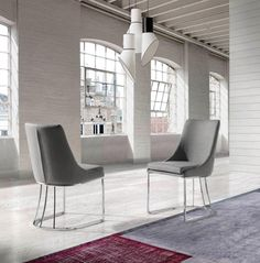 Modern and trendy dining chair in wide range of eco leather and fabric upholstery options #homedecor #interiordesign #angelcerda #furniture #interiors #style #design