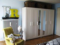 "Brimnes Wardrobe Wall ""Room #2 – The Master Bedroom - Maggie Overby Studios"""