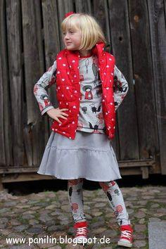 Nähbeispiel lillestoff » Pink Riding Hood « // Design: Kluntjebunt // Nähbeispiel: Panilin