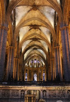 The Cathedral interiors, Barcelona  Catalonia
