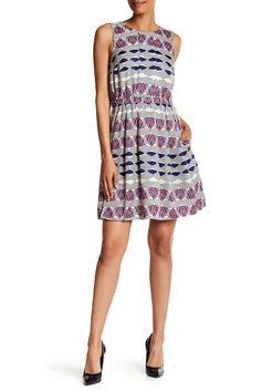Image of Donna Morgan Print Twill Blouson Dress