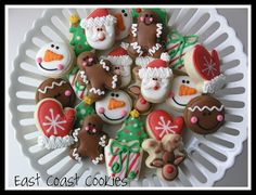 Mini Christmas Cookies 2011 by East Coast Cookies, via Flickr